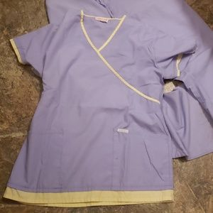 Cherokee Pants - Free shirt purple scrub set Cherokee S/M